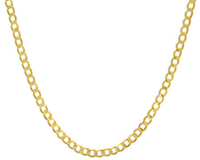 "Load image into Gallery viewer, 9ct Yellow Gold 17.5g Curb Necklace, 51cm/20"" Length, 6mm Width"