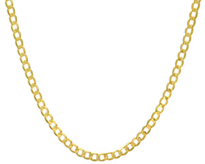 "9ct Yellow Gold 19.3g Curb Necklace, 56cm/22"" Length, 6mm Width"