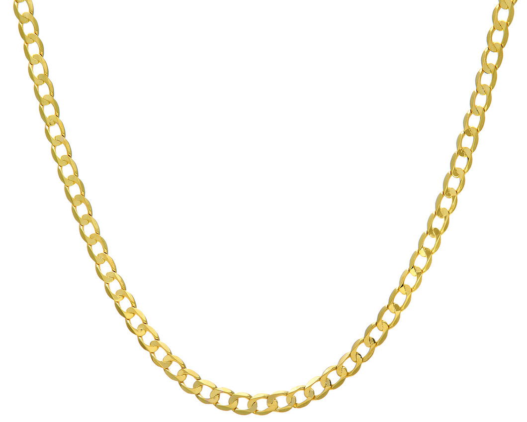 9ct Yellow Gold 19.3g Curb Necklace, 56cm/22