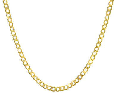 9ct Yellow Gold 21g Curb Necklace, 61cm/24