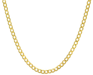 "9ct Yellow Gold 24.5g Curb Necklace, 71cm/28"" Length, 6mm Width"