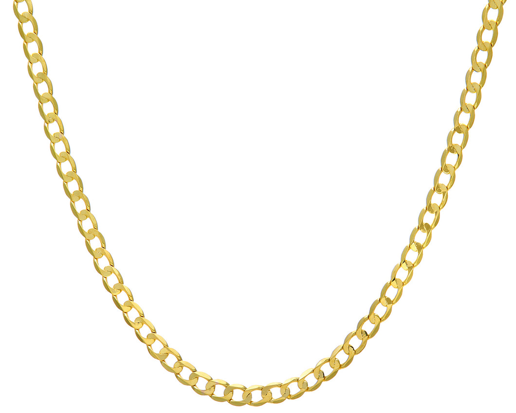 9ct Yellow Gold 24.5g Curb Necklace, 71cm/28