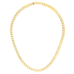 "9ct Yellow Gold 26.3g Curb Necklace, 76cm/30"" Length, 6mm Width"