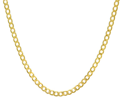 9ct Yellow Gold 26.3g Curb Necklace, 76cm/30