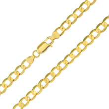 "Load image into Gallery viewer, 9ct Yellow Gold 7.4g Curb Bracelet, 22cm/8.5"" Length, 6mm Width"
