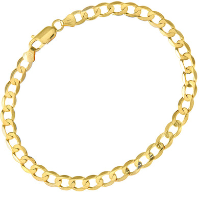9ct Yellow Gold 7.4g Curb Bracelet, 22cm/8.5