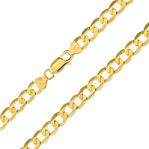 "9ct Yellow Gold 21.65g Curb Necklace, 46cm/18"" Length, 7mm Width"