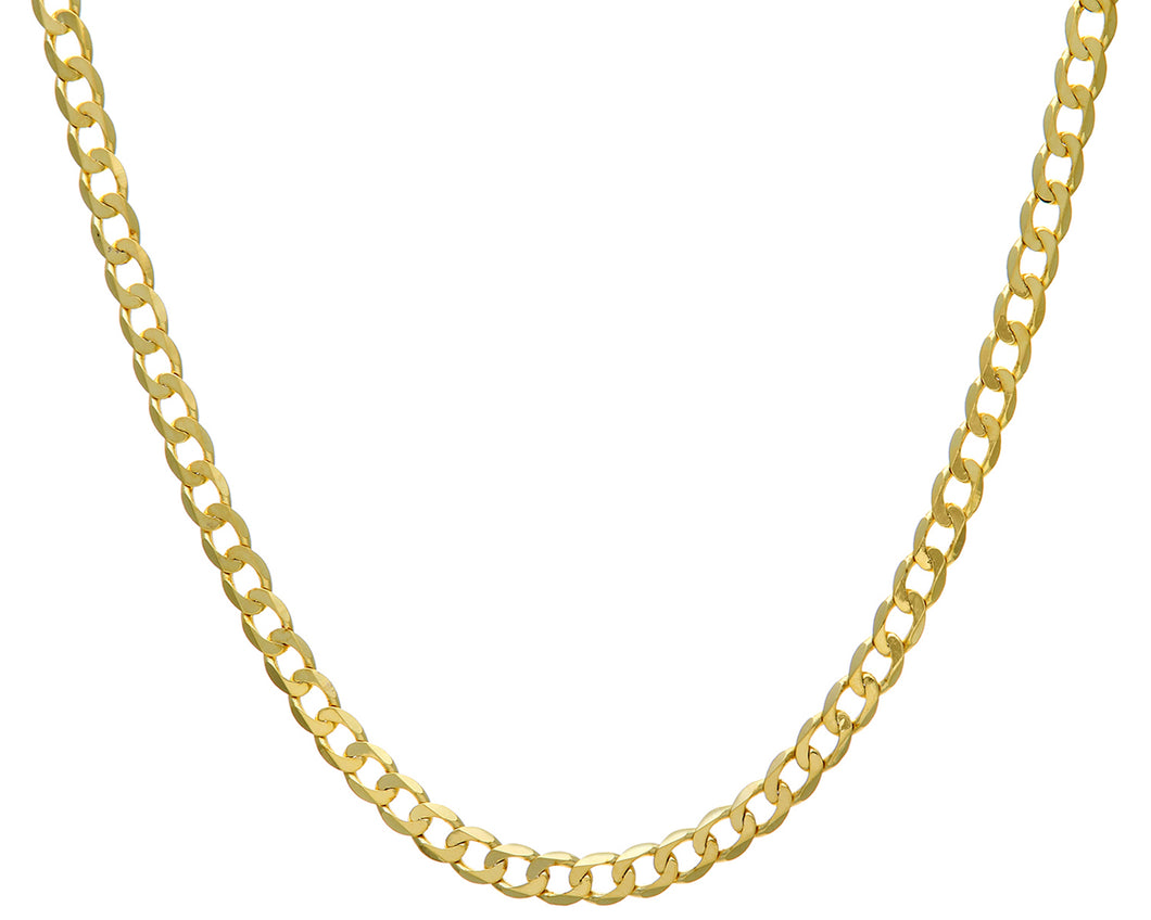 9ct Yellow Gold 21.65g Curb Necklace, 46cm/18