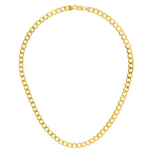 "Load image into Gallery viewer, 9ct Yellow Gold 33.6g Curb Necklace, 71cm/28"" Length, 7mm Width"
