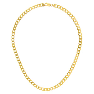"9ct Yellow Gold 33.6g Curb Necklace, 71cm/28"" Length, 7mm Width"