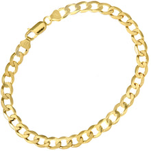 "Load image into Gallery viewer, 9ct Yellow Gold 10.2g Curb Bracelet, 22cm/8.5"" Length, 7mm Width"