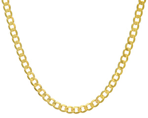 "9ct Yellow Gold 32.5g Curb Necklace, 56cm/22"" Length, 7.3mm Width"