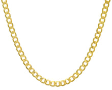 "Load image into Gallery viewer, 9ct Yellow Gold 35.4g Curb Necklace, 61cm/24"" Length, 7.3mm Width"