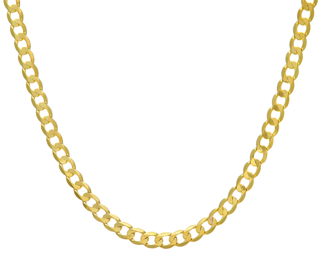 9ct Yellow Gold 35.4g Curb Necklace, 61cm/24