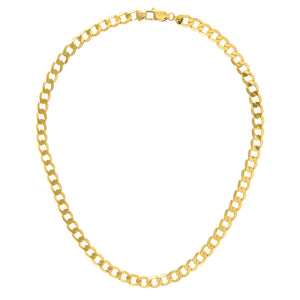 "9ct Yellow Gold 41.3g Curb Necklace, 71cm/28"" Length, 7.3mm Width"