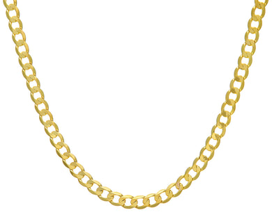 9ct Yellow Gold 44.3g Curb Necklace, 76cm/30