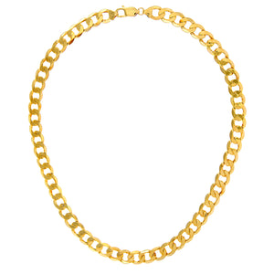 "9ct Yellow Gold 43.7g Curb Necklace, 46cm/18"" Length, 9mm Width"