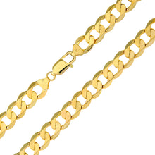 "Load image into Gallery viewer, 9ct Yellow Gold 43.7g Curb Necklace, 46cm/18"" Length, 9mm Width"