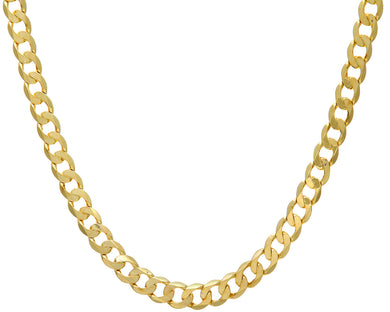 9ct Yellow Gold 53.4g Curb Necklace, 56cm/22