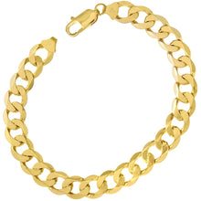 "Load image into Gallery viewer, 9ct Yellow Gold 20.6g Curb Bracelet, 22cm/8.5"" Length, 9mm Width"