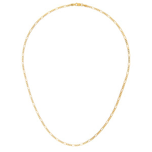 "9ct Yellow Gold 3.4g Figaro Necklace, 41cm/16"" Length, 2.3mm Width"