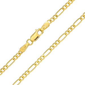 "9ct Yellow Gold 4.3g Figaro Necklace, 51cm/20"" Length, 2.3mm Width"
