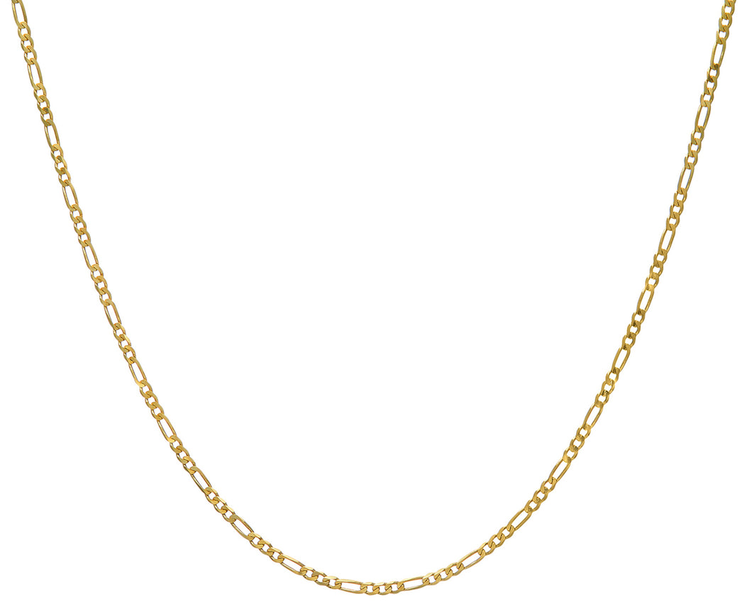 9ct Yellow Gold 7.1g Figaro Necklace, 51cm/20