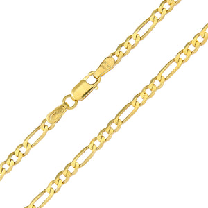"9ct Yellow Gold 7.8g Figaro Necklace, 56cm/22"" Length, 3mm Width"