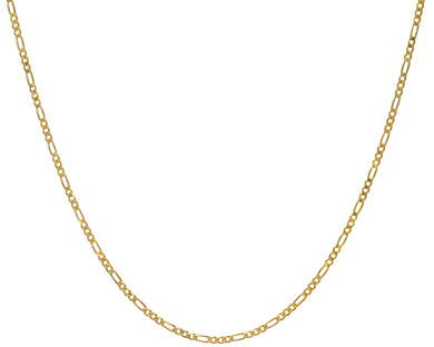 9ct Yellow Gold 8.6g Figaro Necklace, 61cm/24