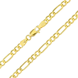 "9ct Yellow Gold 13.2g Figaro Necklace, 61cm/24"" Length, 4mm Width"