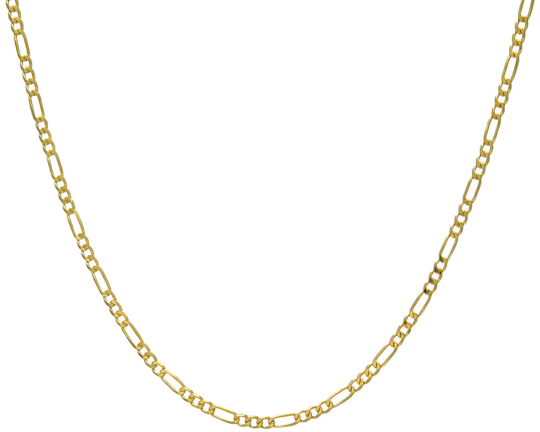 9ct Yellow Gold 13.2g Figaro Necklace, 61cm/24