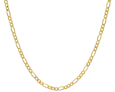 9ct Yellow Gold 14.9g Figaro Necklace, 46cm/18