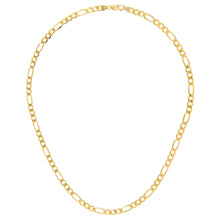 "Load image into Gallery viewer, 9ct Yellow Gold 16.6g Figaro Necklace, 51cm/20"" Length, 5.2mm Width"