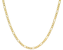 "Load image into Gallery viewer, 9ct Yellow Gold 18.2g Figaro Necklace, 56cm/22"" Length, 5.2mm Width"
