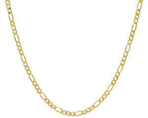"9ct Yellow Gold 18.2g Figaro Necklace, 56cm/22"" Length, 5.2mm Width"
