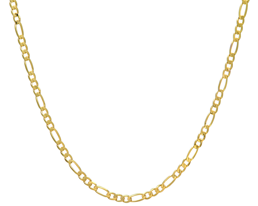 9ct Yellow Gold 18.2g Figaro Necklace, 56cm/22