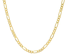 "Load image into Gallery viewer, 9ct Yellow Gold 19.7g Figaro Necklace, 46cm/18"" Length, 5.8mm Width"