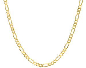 "9ct Yellow Gold 19.7g Figaro Necklace, 46cm/18"" Length, 5.8mm Width"