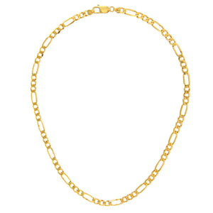 "9ct Yellow Gold 21.8g Figaro Necklace, 51cm/20"" Length, 5.8mm Width"