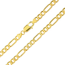 "Load image into Gallery viewer, 9ct Yellow Gold 21.8g Figaro Necklace, 51cm/20"" Length, 5.8mm Width"