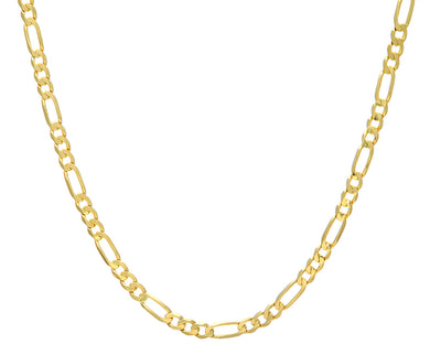 9ct Yellow Gold 24g Figaro Necklace, 56cm/22