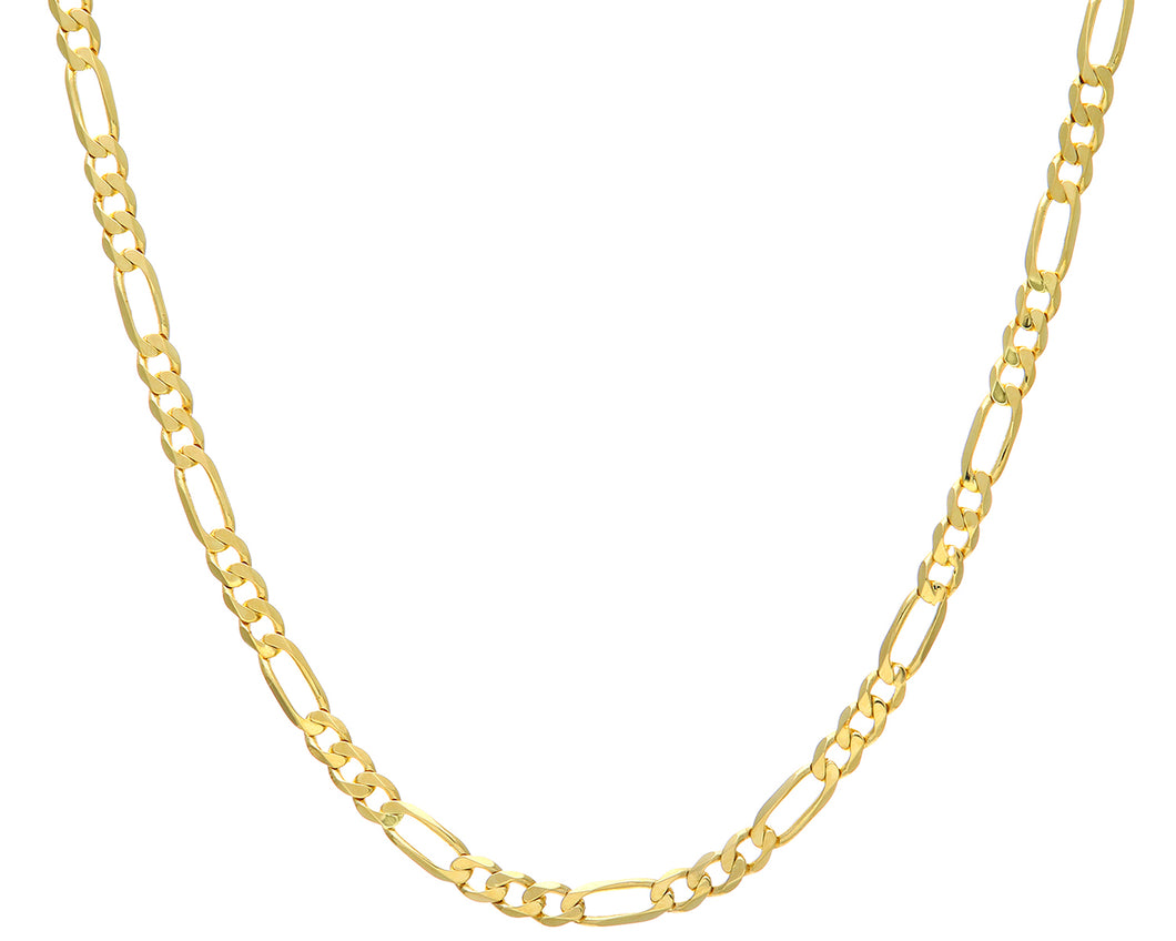 9ct Yellow Gold 28.4g Figaro Necklace, 66cm/26