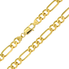 "Load image into Gallery viewer, 9ct Yellow Gold 36g Figaro Necklace, 61cm/24"" Length, 7mm Width"