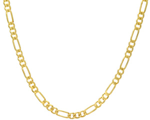 "9ct Yellow Gold 42g Figaro Necklace, 71cm/28"" Length, 7mm Width"