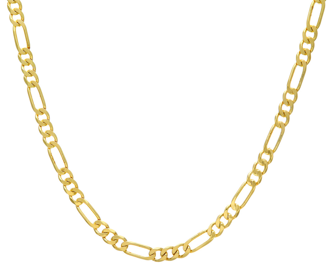 9ct Yellow Gold 42g Figaro Necklace, 71cm/28