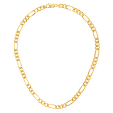 "Load image into Gallery viewer, 9ct Yellow Gold 45g Figaro Necklace, 76cm/30"" Length, 7mm Width"