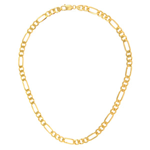 "9ct Yellow Gold 45g Figaro Necklace, 76cm/30"" Length, 7mm Width"