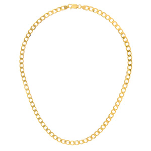 "9ct Yellow Gold 18.1g Curb Necklace, 46cm/18"" Length, 6.2mm Width"