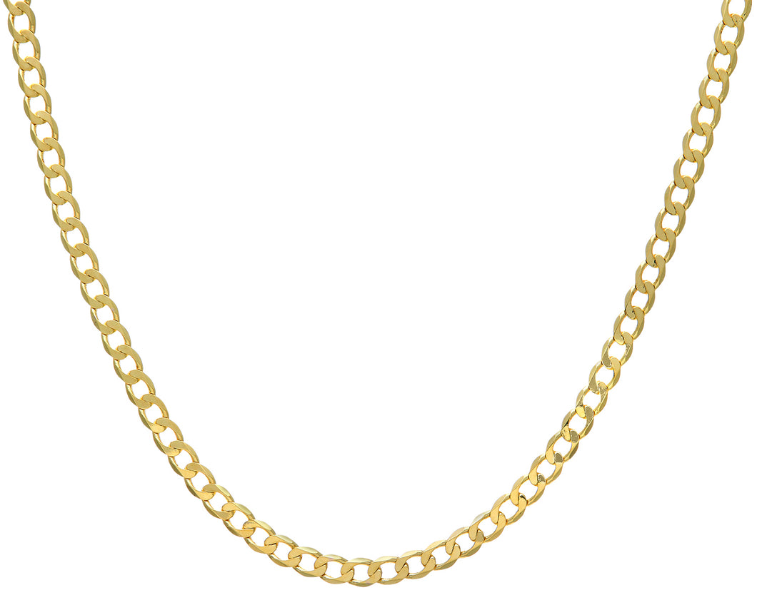 9ct Yellow Gold 28g Curb Necklace, 71cm/28