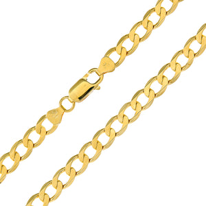 "9ct Yellow Gold 30g Curb Necklace, 76cm/30"" Length, 6.2mm Width"